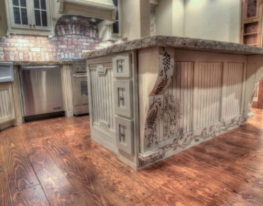 179 Muirfield kitchen wood detailing and hand carving