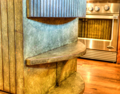 tour home kitchen island detail