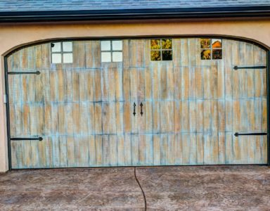 hand-painted garage doors