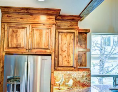 kitchen cabinet over fridge